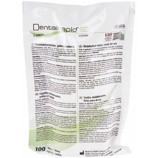 OMICRON - Dentalrapid SD wipes Lemon