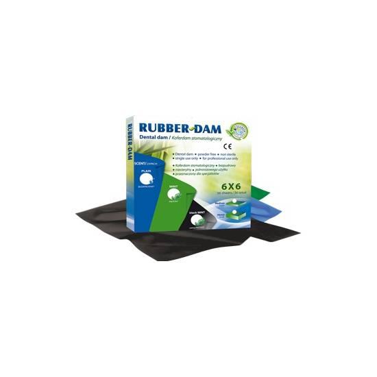 Cerkamed - Rubber-Dam Plain medium 36ks modrý